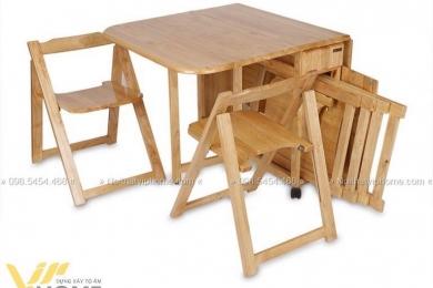 Bàn ăn gỗ thông minh đẹp BATM-1201 12