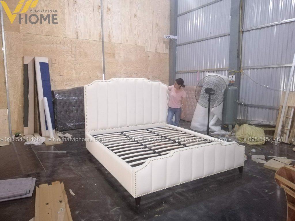 Giường ngủ đôi tân cổ điển đẹp GBD-2003 6