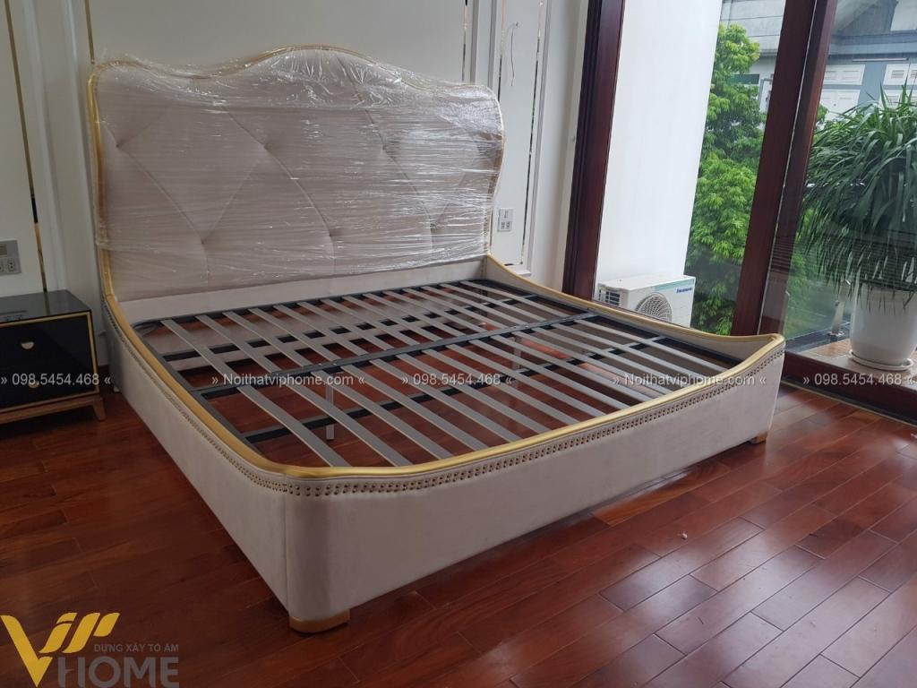 Giường ngủ đôi tân cổ điển đẹp GBD-2005 4