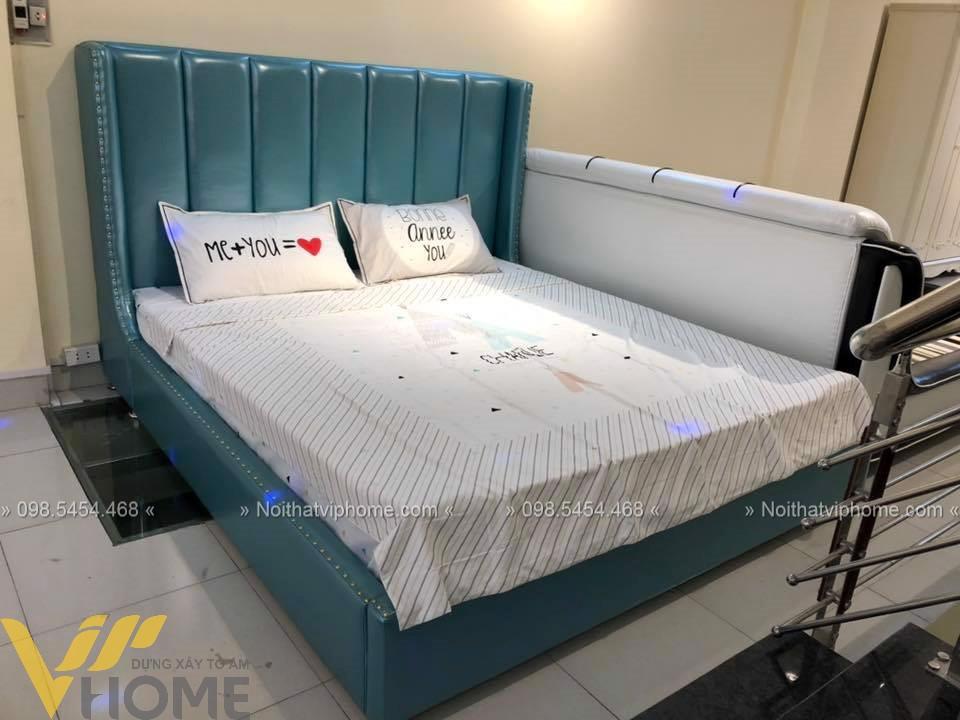 Giường ngủ đôi tân cổ điển đẹp GBD-2007 5
