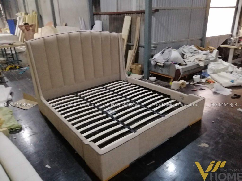 Giường ngủ đôi tân cổ điển đẹp GBD-2007 6