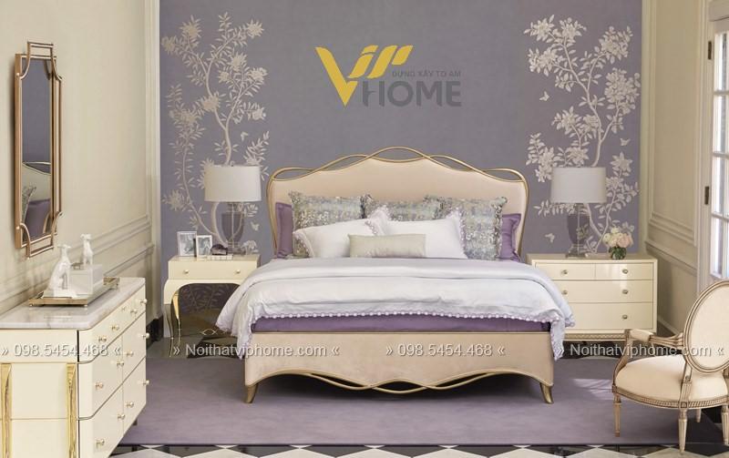 Giường ngủ đôi tân cổ điển đẹp GBD-2010 2