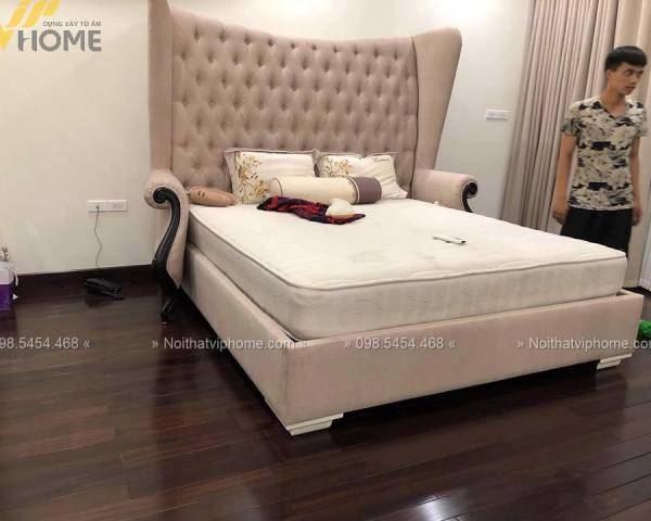 Giường ngủ đôi tân cổ điển đẹp GBD-2020 1