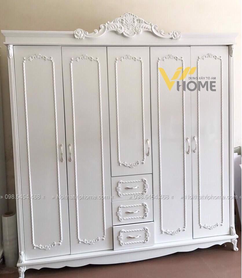 Tủ quần áo tân cổ điển đẹp-TQA-5006 1