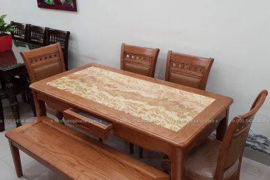 Bàn ăn gỗ đẹp hiện đại BAG-1028 3