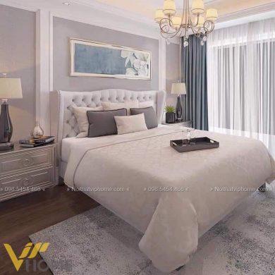 Giường ngủ đôi tân cổ điển đẹp GBD-2042