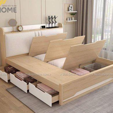 Giường ngủ đôi hiện đại đẹp GBD-2046 3