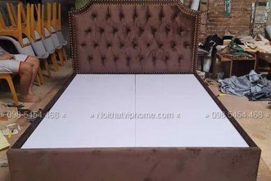 Giường ngủ đôi tân cổ điển đẹp GBD-2036