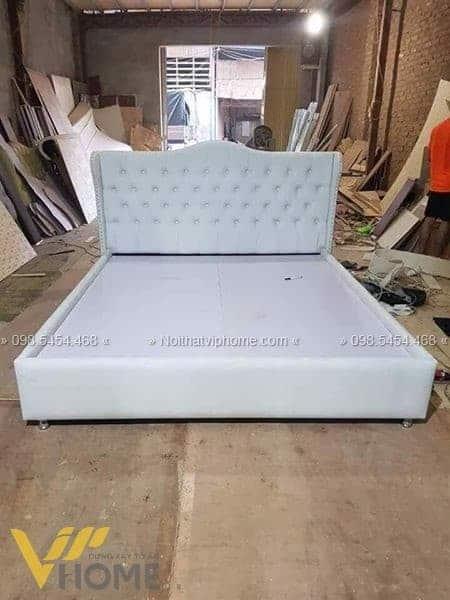 Giường ngủ đôi tân cổ điển đẹp GBD-2038