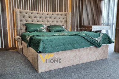 Giường ngủ đôi tân cổ điển đẹp GBD-2041