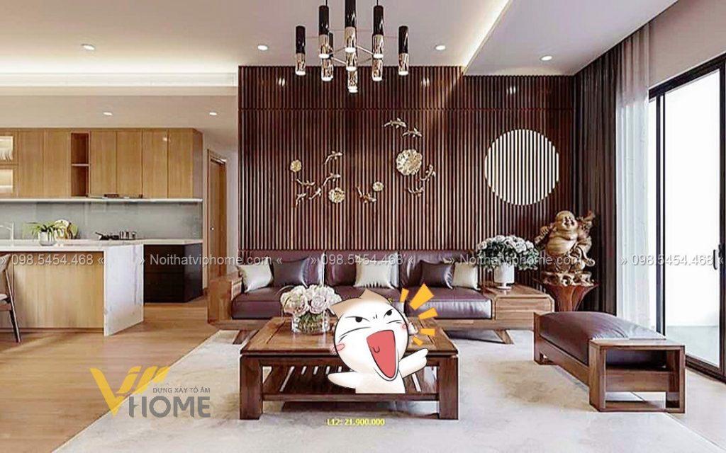 Sofa gỗ sang trọng đẹp SFG-3003