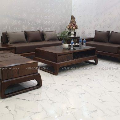 Sofa gỗ sang trọng đẹp SFG-3004