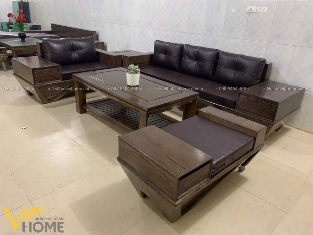 Sofa gỗ sang trọng đẹp SFG-3005 2