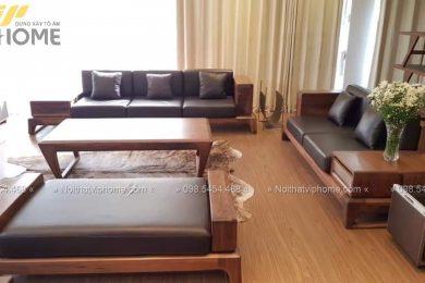 Sofa gỗ sang trọng đẹp SFG-3006 2