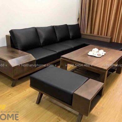 Sofa gỗ sang trọng đẹp SFG-3007