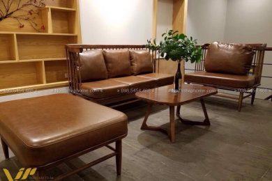 Sofa gỗ sang trọng đẹp SFG-3009