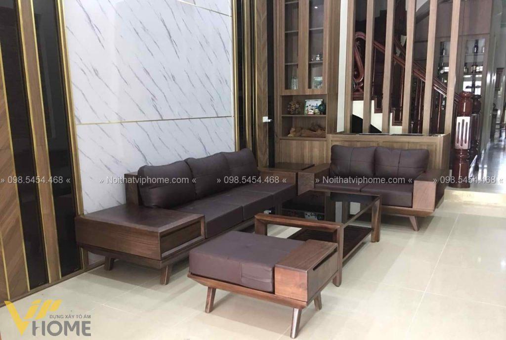 Sofa gỗ sang trọng đẹp SFG-3011