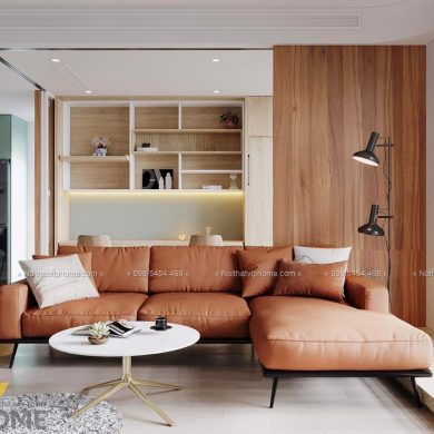 Sofa góc da hiện đại đẹp SHD-2009