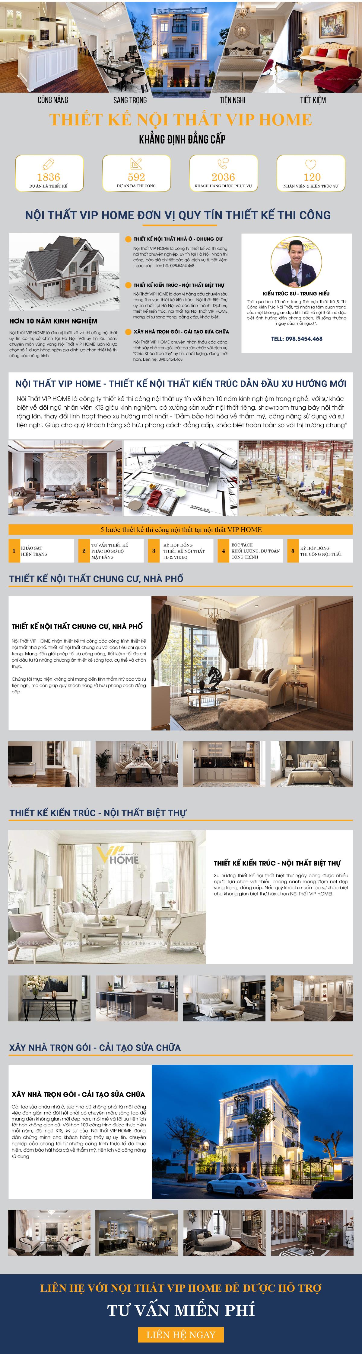 Thiết kế thi công nội thất uy tin