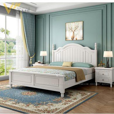 Giường ngủ tân cổ điển đẹp sang trọng GG-21002