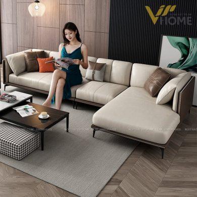 Sofa da cao cấp đẹp