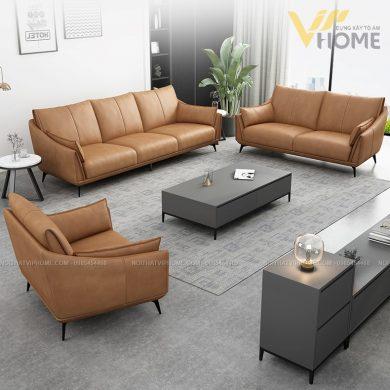 Sofa da cao cấp đẹp SHD-2068