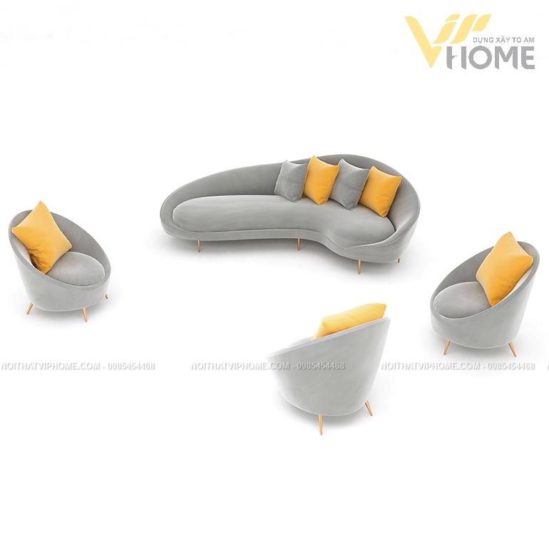 Sofa da cao cấp đẹp SHD-2073