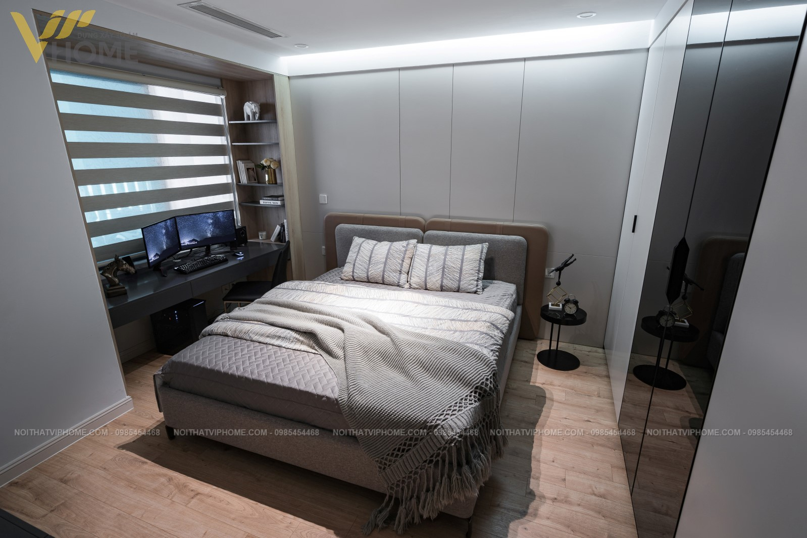 Thiết kế thi công nội thất căn hộ hiện đại đẹp
