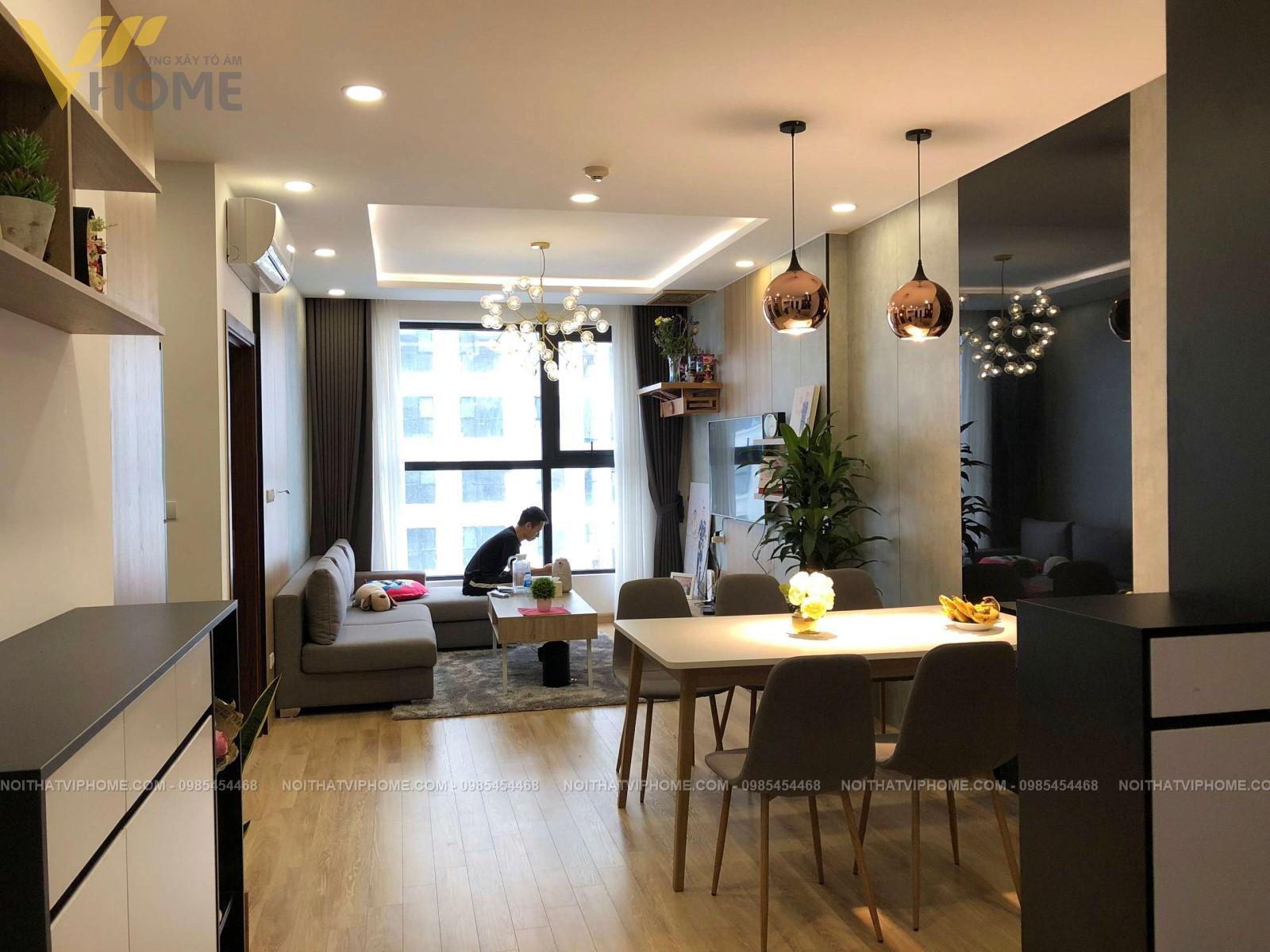 Thiết kế thi công nội thất chung cư hiện đại đẹp