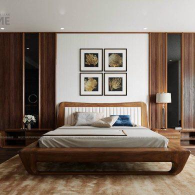 Giường ngủ gỗ sang trọng GG-0001