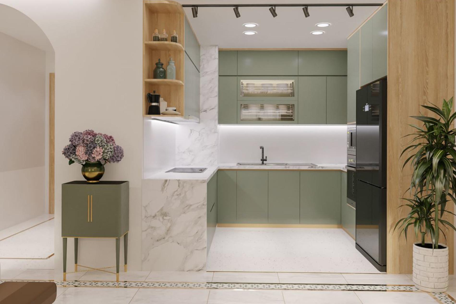 phòng bếp nội thất hiện đại