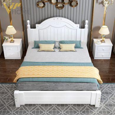 Giường gỗ tân cổ điển đẹp
