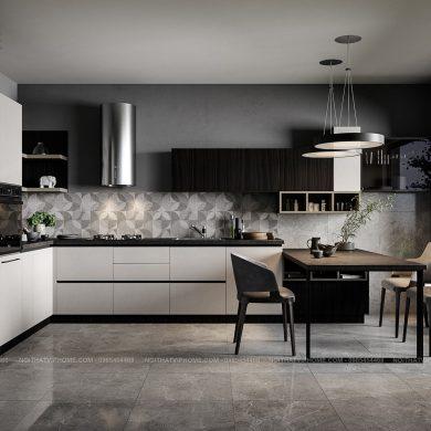 Tủ bếp cao cấp hiện đại đẹp