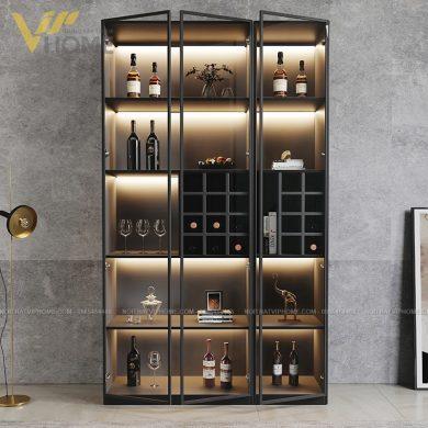 Tủ rượu cánh kính cao cấp đẹp