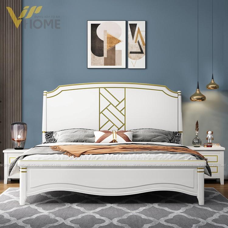 Giường gỗ tân cổ điển cao cấp đẹp